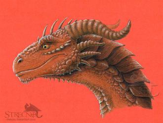 Copper-Colored Dragon Head by Strecno