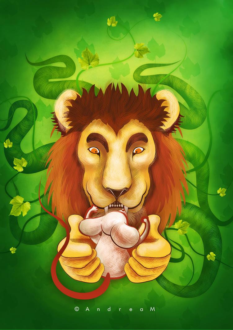 Fabula: El leon y el raton by AndreaMelendez
