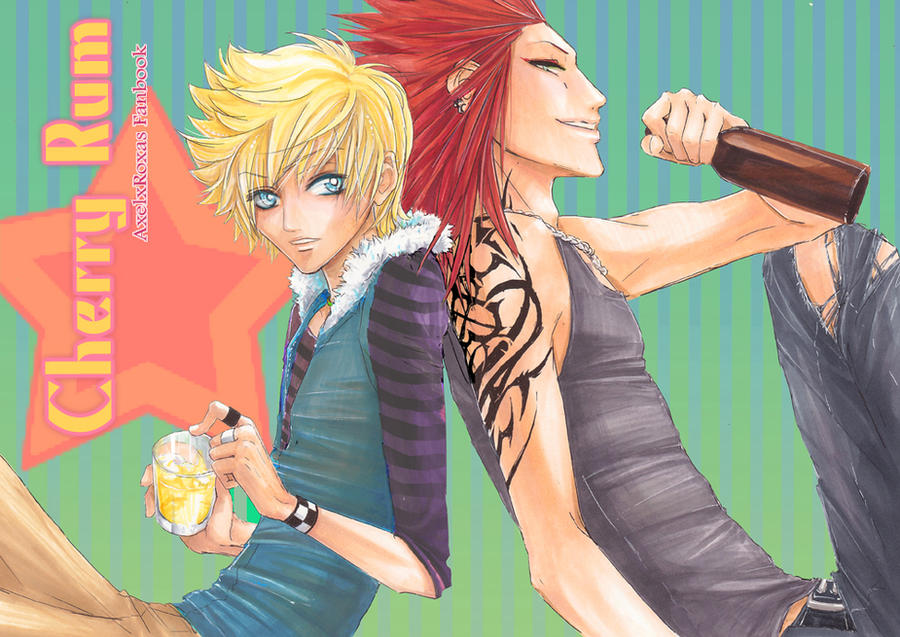KH: Cherry Rum Doujinshi Cover - sleeve tattoo