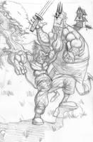 Wolverine Sketch by Madatom