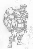 Hulk Sketch by Madatom