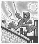 Spiderman grayscale