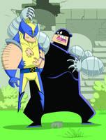 Cyber versus Wolverine by Madatom