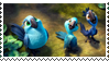 Rio 2 - Blu and Jewel's chicks stamp by DjGomaSar12
