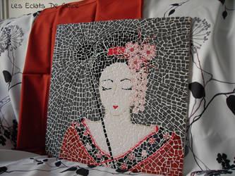Geisha sous l'ombrelle