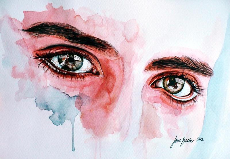 Eye study in flesh tone by jane-beata