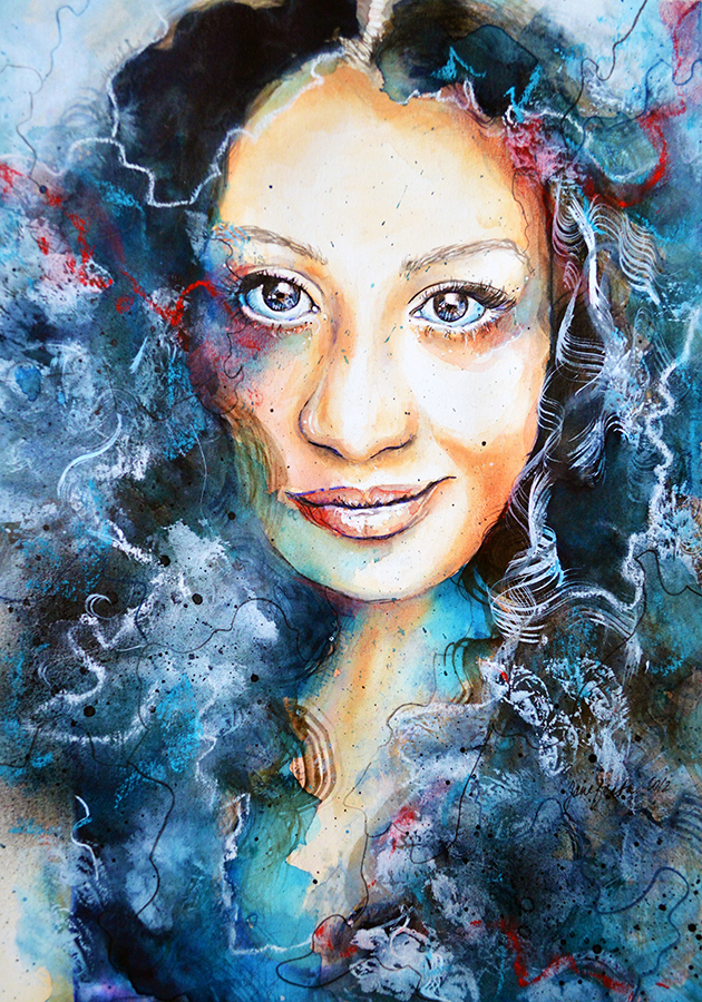 Portrait of deviant: Diva, Speed painting video by jane-beata