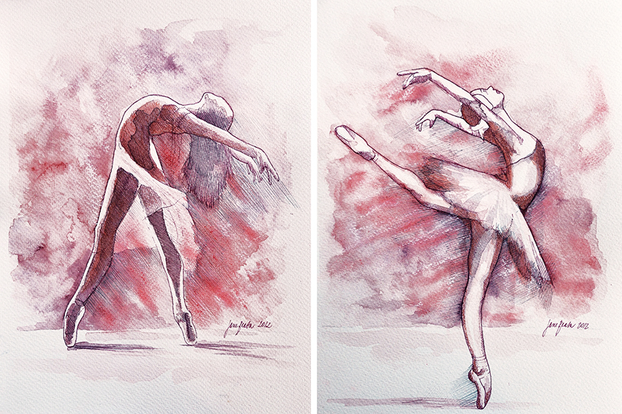Ballet Studies By Jane Beata