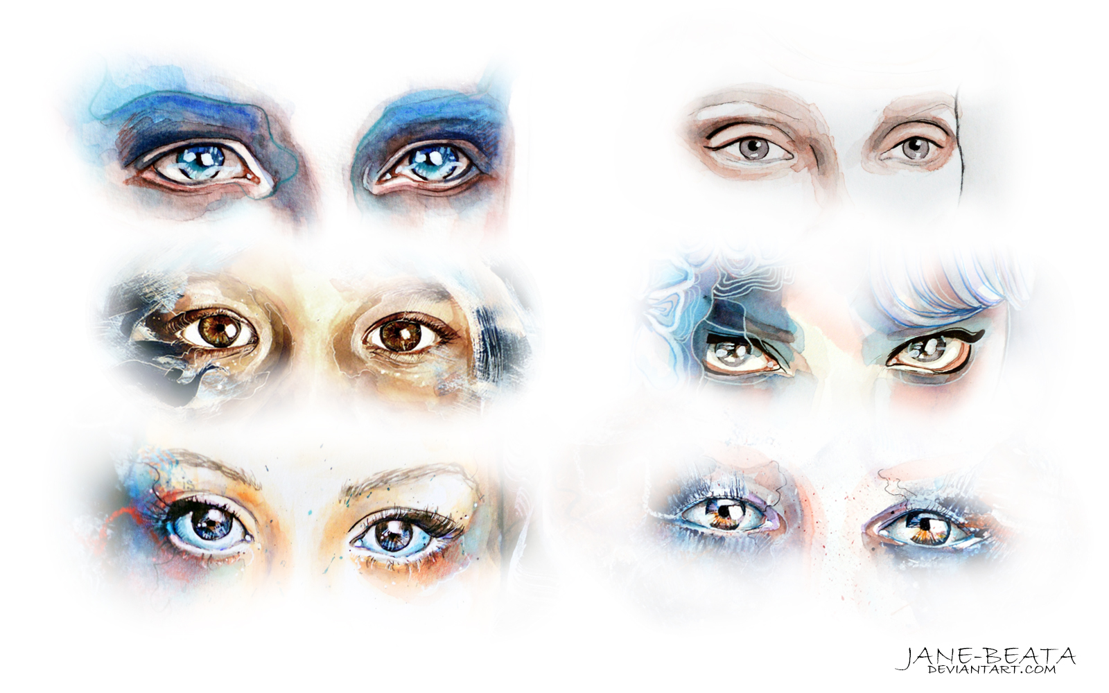 Watercolor eyes compilation I