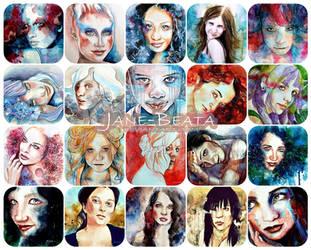 Jane-Beata portraits promo by jane-beata