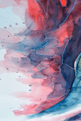 Watercolor, gel pen texture I