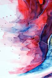Watercolor, gel pen texture II