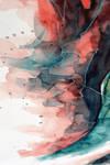 Watercolor, gel pen texture IV
