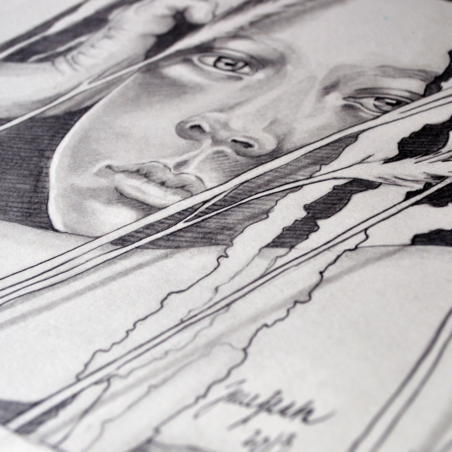 Graphite closeup by jane-beata