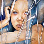 Today, right now...never, watercolor painting