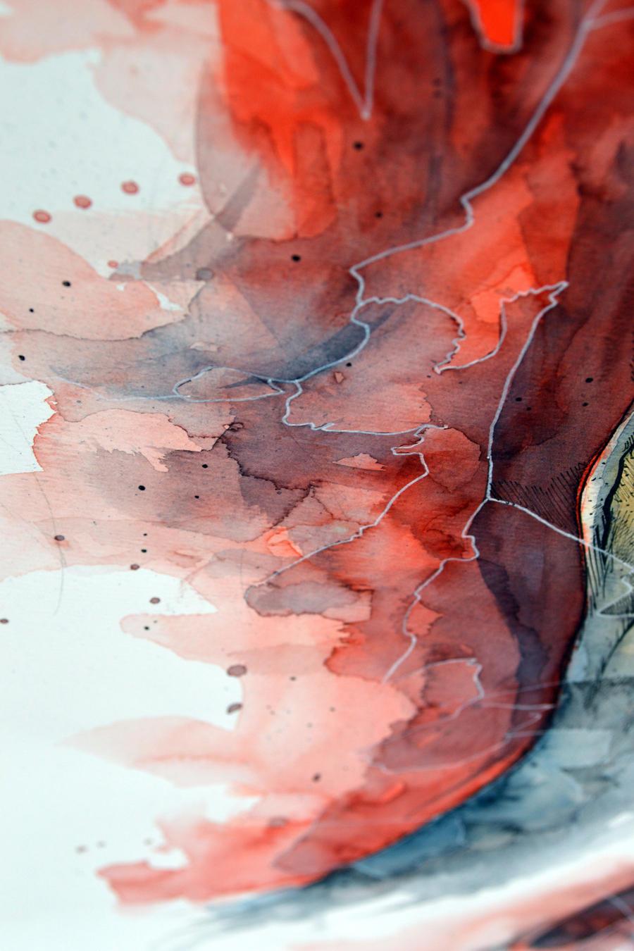 Watercolor, gel pen texture VI by jane-beata