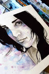 Ink and watercolor portraiture, Diana - VIDEO