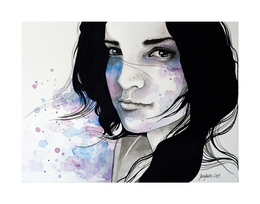 Diana, ink and watercolor portraiture - PLUS VIDEO by jane ...