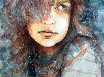Watercolor explorations with blue and brown by jane-beata