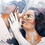 Harmony, watercolor couple portraiture