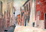 Italy, watercolor by jane-beata