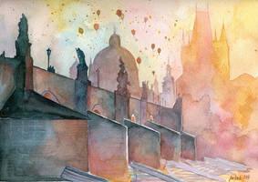 Charles Bridge, Prague by jane-beata