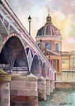 Paris, Pont des arts and institute de France