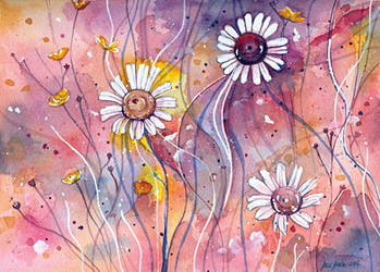 Watercolor flower study by jane-beata