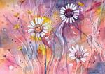 Watercolor flower study