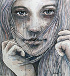 Summer dreams of winter, watercolor painting