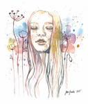 Meditation, watercolor