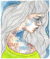 Hideout, watercolor illustration by jane-beata