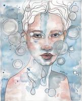Meditation II, watercolor by jane-beata
