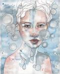 Meditation II, watercolor