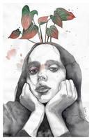 Friday nostalgia, watercolor artwork by jane-beata