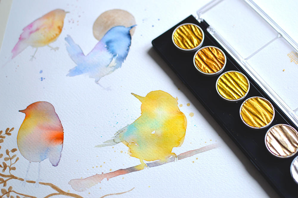 Bird studies in watercolor by jane-beata