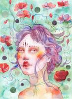 Watercolor fantasy portrait - EMILY by jane-beata