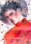 Red sky - watercolor illustration (surreal) by jane-beata