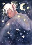 Night Walker, watercolor illustration