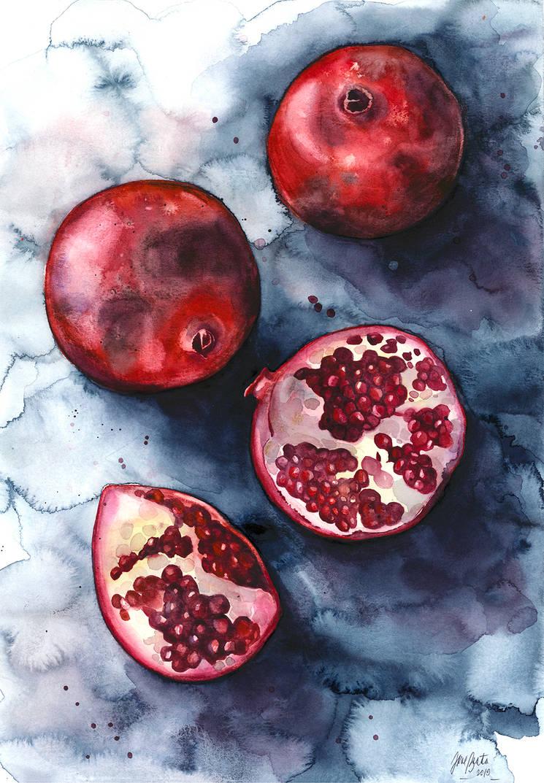Pomegranades, web (large) by jane-beata