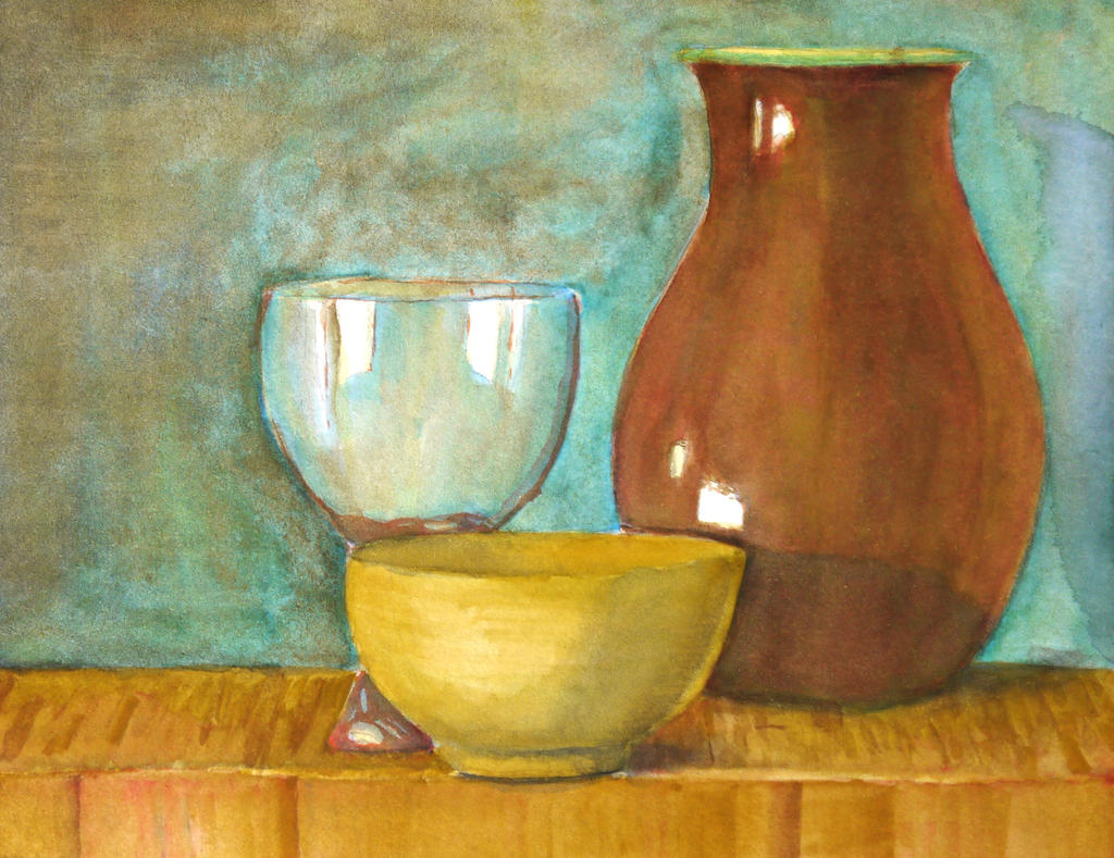 Watercolour still life of vase with glass by ruudtjefield on watercolour still life of vase with glass by ruudtjefield reviewsmspy