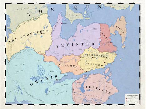 Map of Modern Thedas