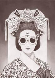 Reptalialism Geisha by erwinpineda