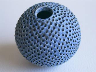 Blue Spineless Urchin by c-urchin