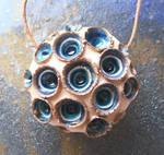 Peacock Coral Ceramic Pendant