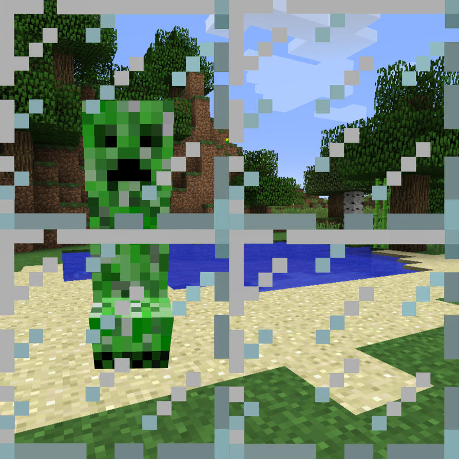 Wall Decorations Minecraft : Minecraft window wall art by lexi rae on deviantart