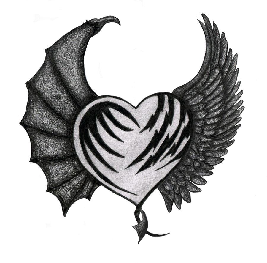 devil angel heart final by time84 on deviantart. Black Bedroom Furniture Sets. Home Design Ideas