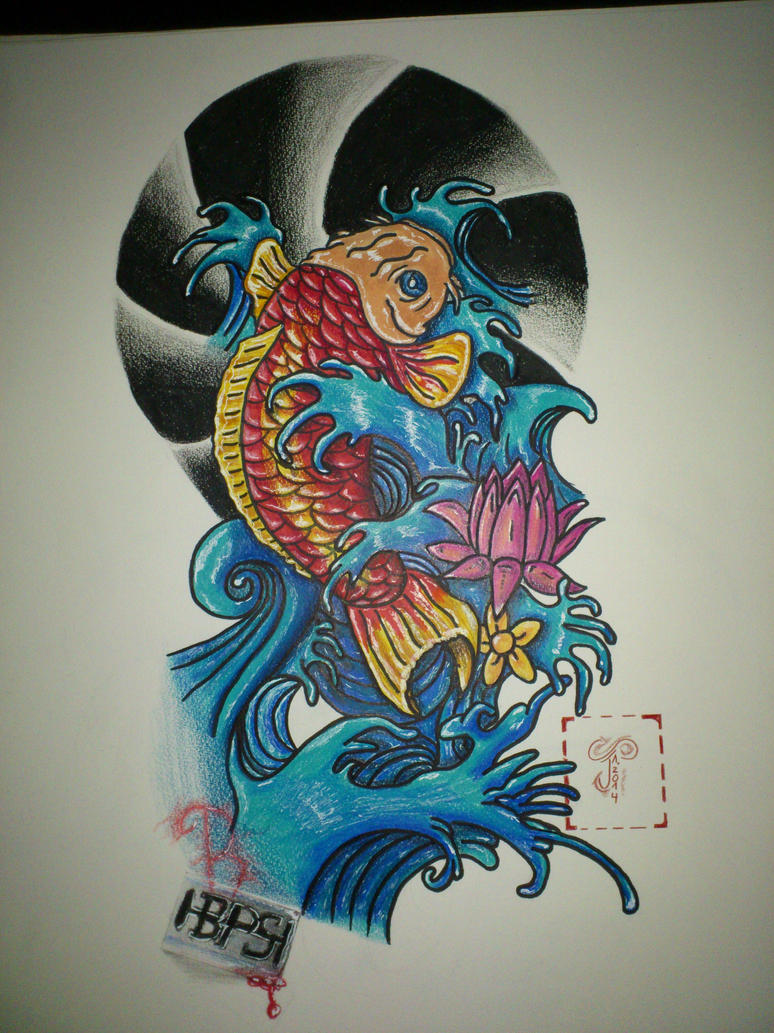 koi tattoo flash by time84 on deviantart. Black Bedroom Furniture Sets. Home Design Ideas
