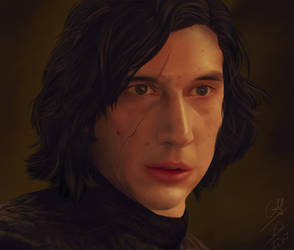 Kylo Ren offering his hand by kimineechan