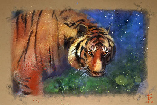 20180919 [Digital Watercolour Tiger]